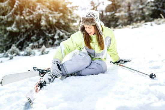 Accident ski